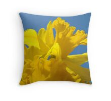 Bright Yellow Daffodil Flowers Garden Baslee Troutman Throw Pillow