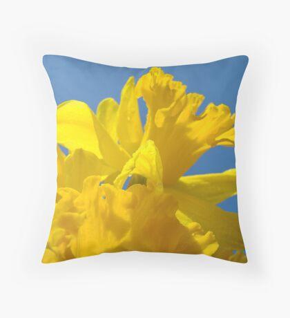 Bright Yellow Daffodil Flowers Garden Baslee Troutman Throw Pillow