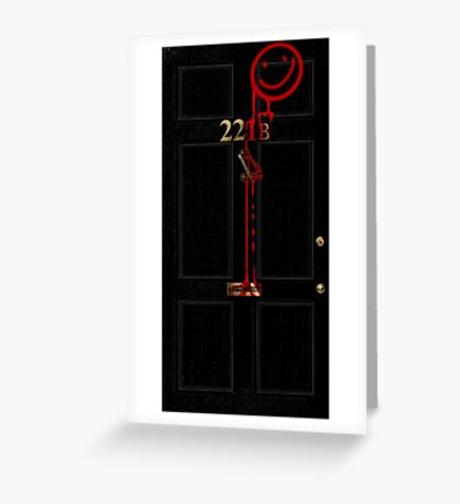 Smile! You're at 221B - red Greeting Card