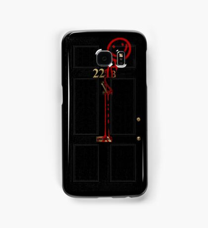 Smile! You're at 221B - red Samsung Galaxy Case/Skin