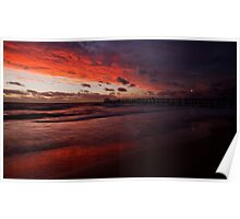 Henley Beach Sunset Poster