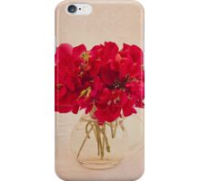 Red Sweet Pea Bouquet iPhone Case/Skin