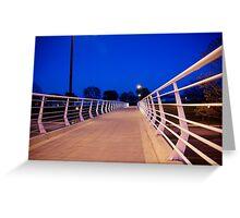 A Bridge into the Night Greeting Card