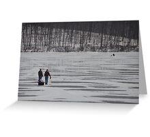 Ice Fisherman Greeting Card