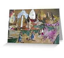 People returnig home after disaster Greeting Card