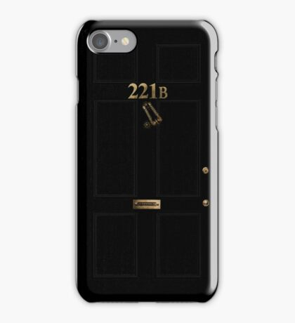 221B - turned knocker iPhone Case/Skin
