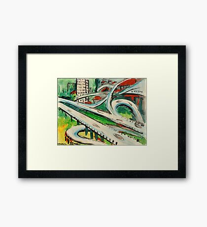 Urban Sketch  Framed Print