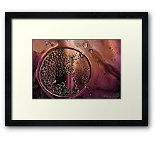 Within the bubbles Framed Print