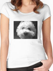 Bichon Frise - Black and White Women's Fitted Scoop T-Shirt