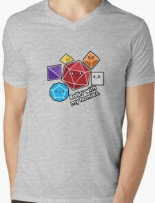 Polyhedral Pals - Rollin With My Homies - D20 Gaming Dice Mens V-Neck T-Shirt