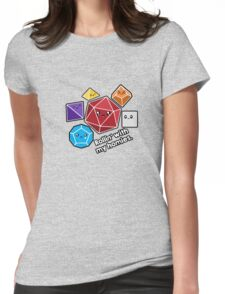Polyhedral Pals - Rollin With My Homies - D20 Gaming Dice Womens Fitted T-Shirt