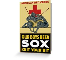 Knit Your Bit -- American Red Cross Greeting Card
