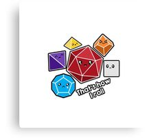 Polyhedral Pals - How I Roll - D20 Gaming Dice Canvas Print
