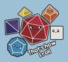 Polyhedral Pals - How I Roll - D20 Gaming Dice Kids Tee