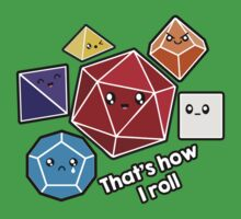 Polyhedral Pals - How I Roll - D20 Gaming Dice Baby Tee