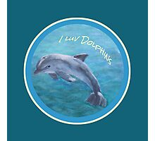 I Luv Dolphins Acrylic Painting Photographic Print