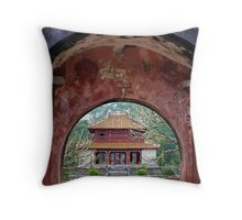 Doorway to the past - Hue, Viet Nam. Throw Pillow