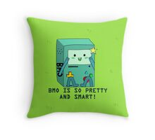 BMO is so pretty and smart! Throw Pillow