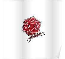Polyhedral Pals - Crit Happens - D20 Gaming Dice Poster