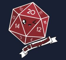 Polyhedral Pals - Crit Happens - D20 Gaming Dice Baby Tee