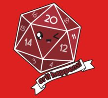 Polyhedral Pals - Crit Happens - D20 Gaming Dice One Piece - Short Sleeve