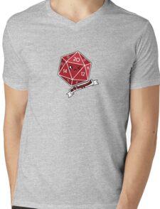 Polyhedral Pals - Crit Happens - D20 Gaming Dice Mens V-Neck T-Shirt
