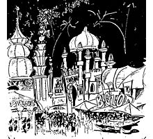 Luna Park Ink Sketch Photographic Print