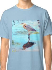 Great blue under palm Classic T-Shirt