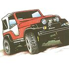 Red Jeep by Grumpology