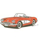 1959 Vette by Grumpology