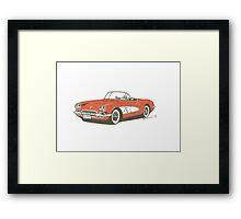 1959 Vette Framed Print