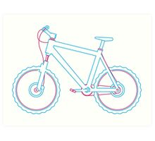 Mountain bike graphic Art Print