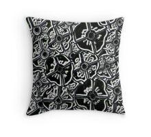Abstract Polarized Poppies Throw Pillow