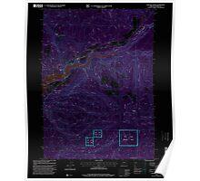 USGS Topo Map Oregon Cascade Gorge 279285 1997 24000 Inverted Poster