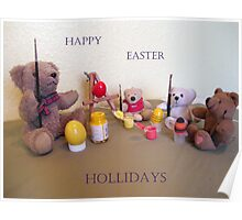 TEDDY EASTER-EGG ARTISTS SCHOOL CARD Poster