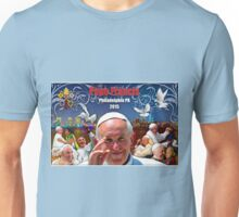 Pope Francis 2015 Philadelphia Visit-night skyline background Unisex T-Shirt