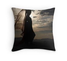 Sunset in White Sands Throw Pillow
