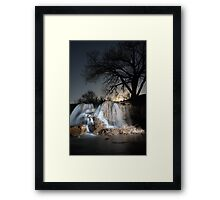 Super Moon over Water Fall Framed Print