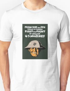 US Marines -- First To Fight Print T-Shirt