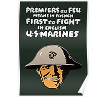 US Marines -- First To Fight Print Poster