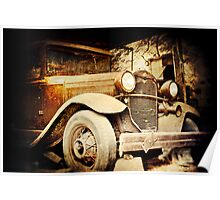 Vintage Ride parked in a barn in rural Pennsylvania  Poster