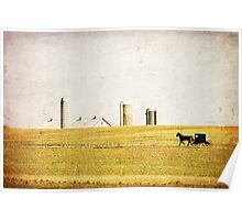 Amish Farmland Buggy Ride  Poster