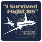 I survived Flight 815 Sticker by godgeeki
