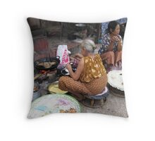 Takeaway Lao style Throw Pillow
