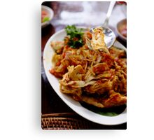 Indonesian Food Canvas Print