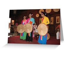 Vietnamese women dancers Greeting Card