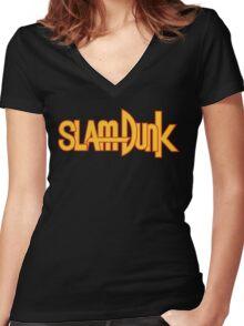 Slam Dunk Logo (Classic) Women's Fitted V-Neck T-Shirt