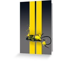 Roadkill poster Greeting Card
