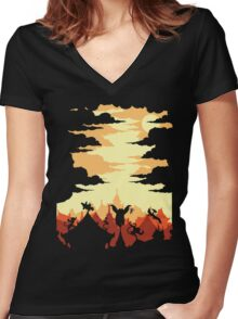 Valley Defenders Women's Fitted V-Neck T-Shirt