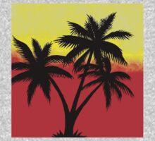 Palm Tree Silhouette One Piece - Short Sleeve